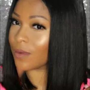 """atoz Accessories - 12"""" 100% Remy Human Hair Lace Front Bob Wig"""